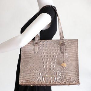 Brahmin Anywhere Leather Tote Moonscape